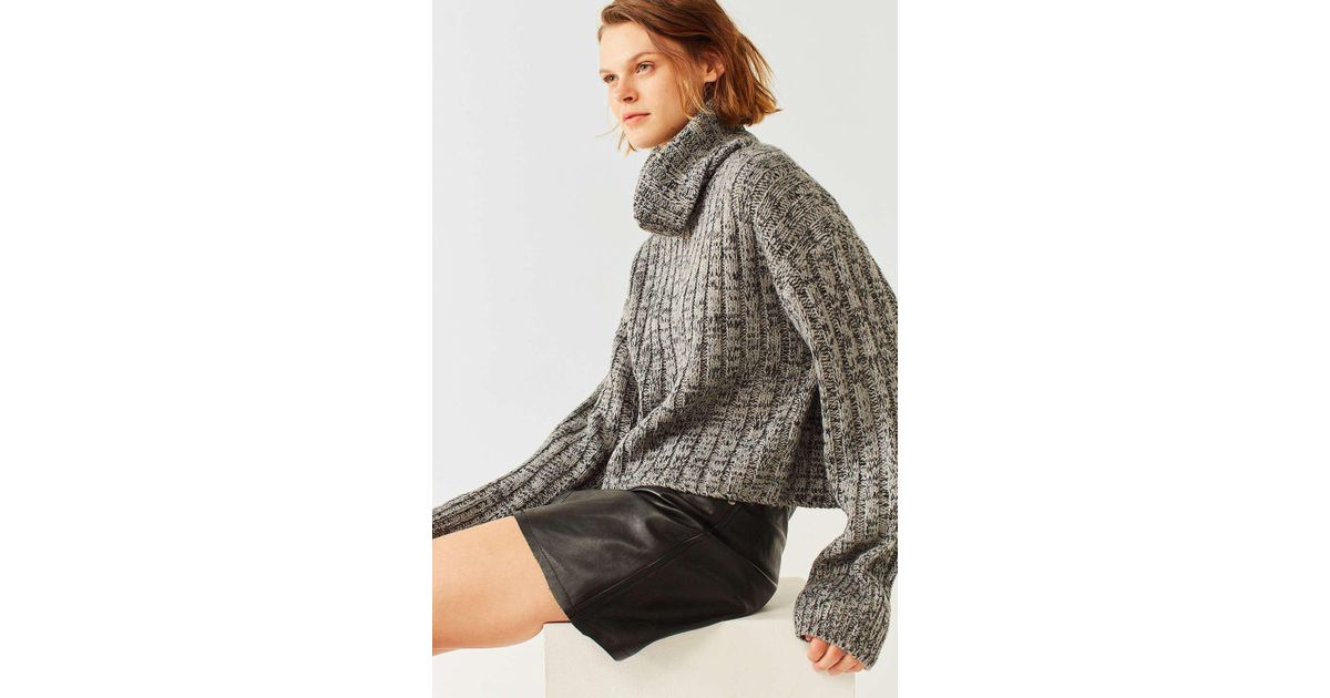 7ed19ac15 BDG Chunky Marled Turtleneck Jumper - Womens L in Gray - Lyst