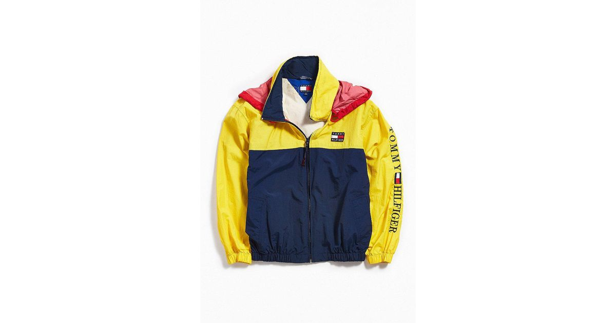 c808c5e1 Urban Outfitters Vintage Tommy Hilfiger Yellow + Navy Windbreaker Jacket in  Yellow for Men - Lyst