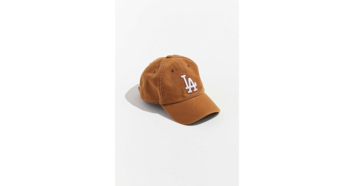 c39fe01e Lyst - 47 Brand X Carhartt La Dodgers Dad Baseball Hat in Natural for Men