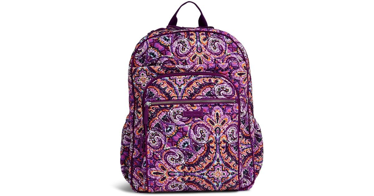 2ee044af03e4 Lyst - Vera Bradley Iconic Xl Campus Backpack in Purple