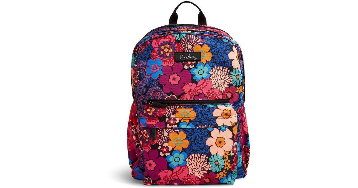 5aab4328d5 Lyst - Vera Bradley Grande Laptop Backpack