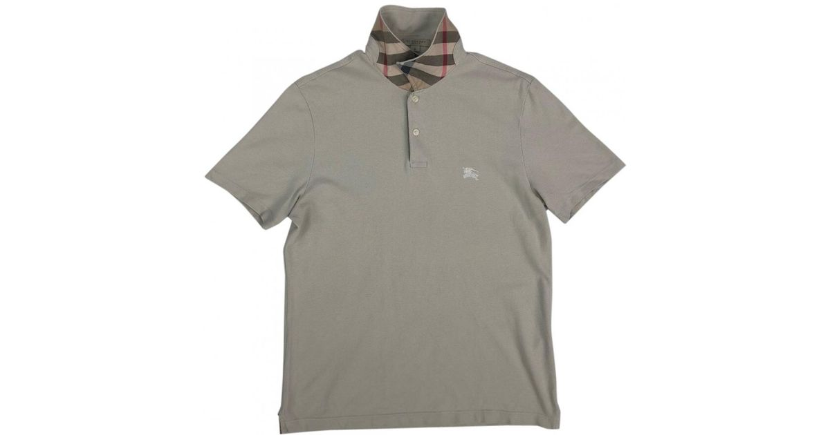 f935f1f21 Lyst - Burberry Beige Cotton Polo Shirts in Natural for Men