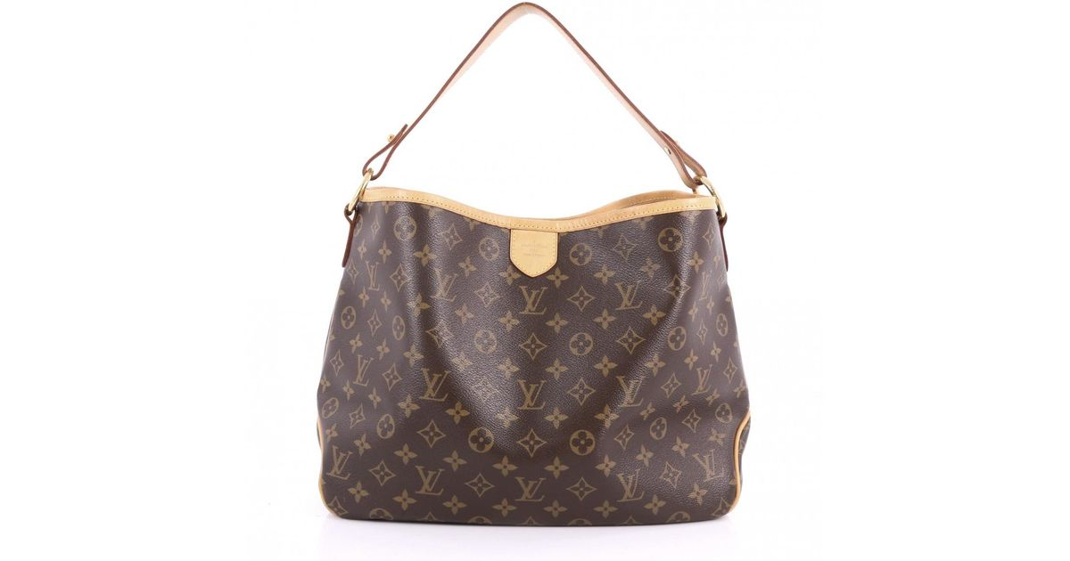 adae4f6e8b0 Lyst - Louis Vuitton Pre-owned Delightful Cloth Handbag in Brown