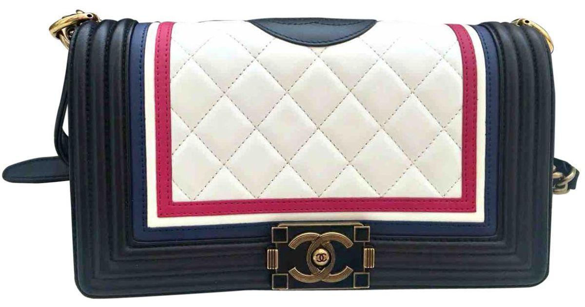 5c7fbcfdd25188 Chanel Boy Leather Handbag - Lyst