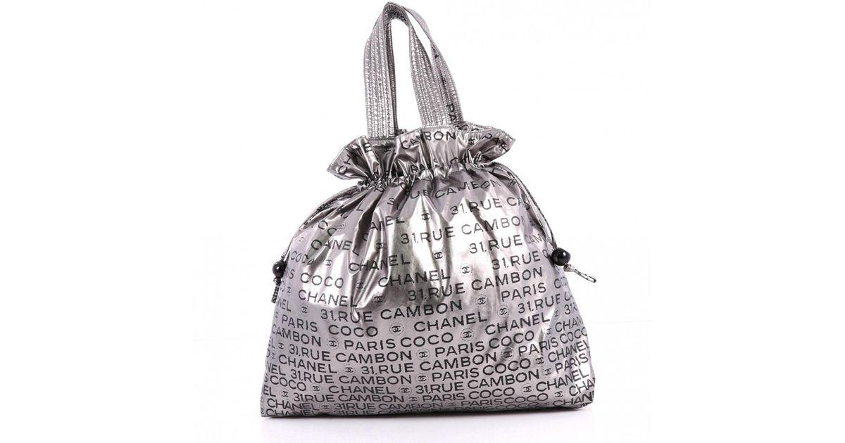 Chanel Metallic Pre Owned Handbag