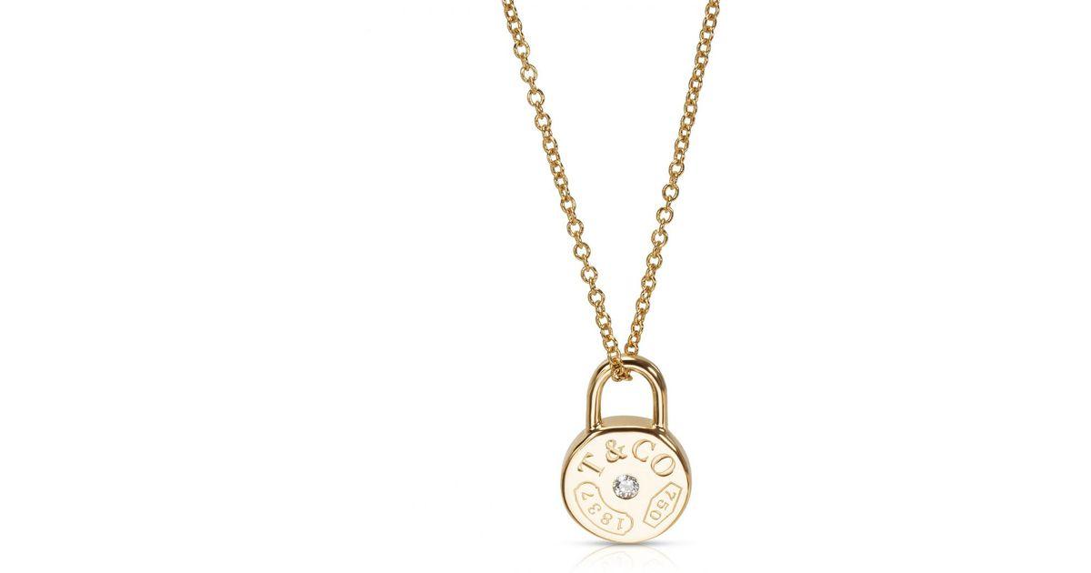 06c08bbcd6d7 Lyst - Tiffany   Co. Tiffany 1837 Yellow Gold Ring in Metallic