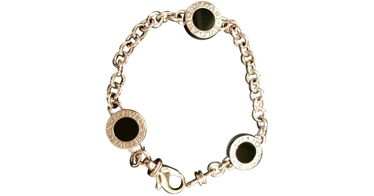 Gold Metallic Bvlgari White Bracelets Pre Owned Lyst Silver EDYIWH29