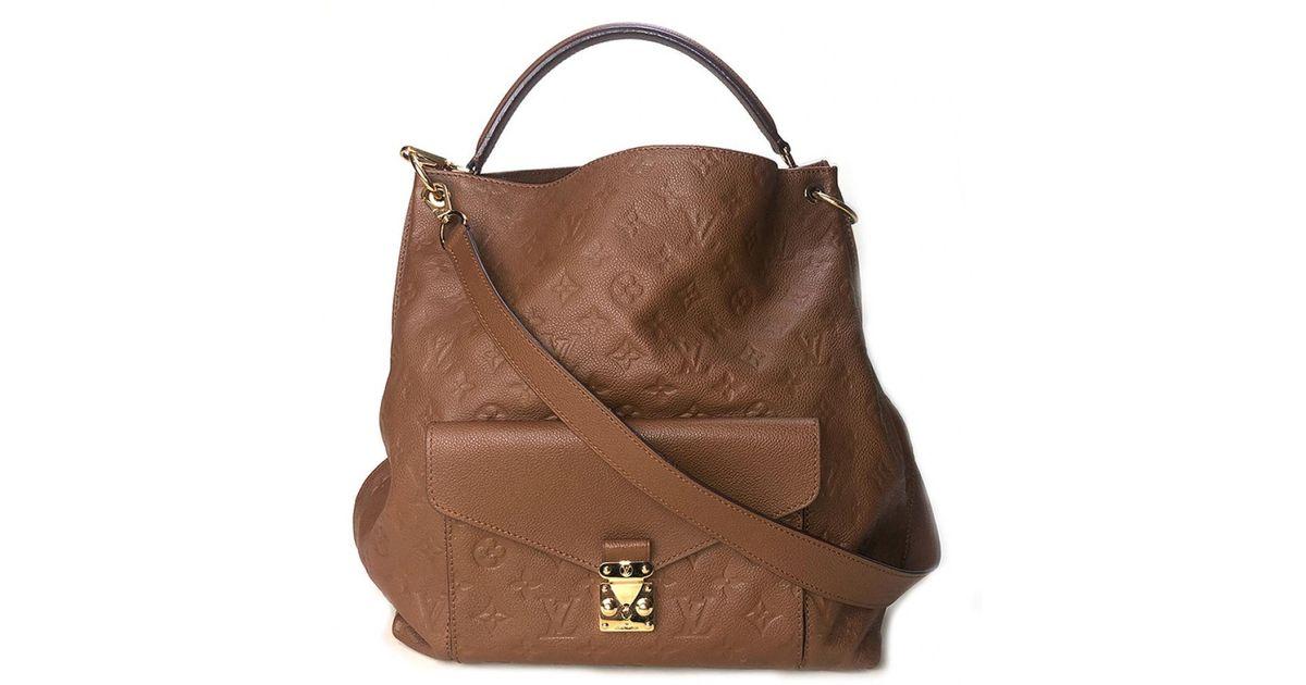 1b3d034219c0 Lyst louis vuitton pre owned camel leather handbags in brown jpg 1200x630 Camel  leather handbag
