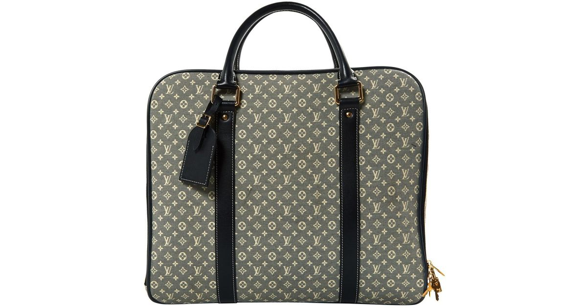 663c2925d Lyst - Louis Vuitton Pre-owned Grey Cloth Travel Bags in Gray
