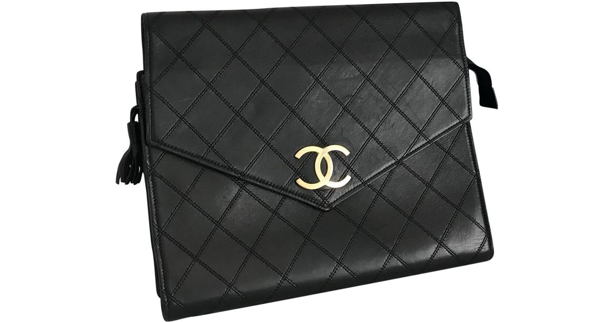 Chanel Pre-owned - Leather clutch bag ShihsFXPv1