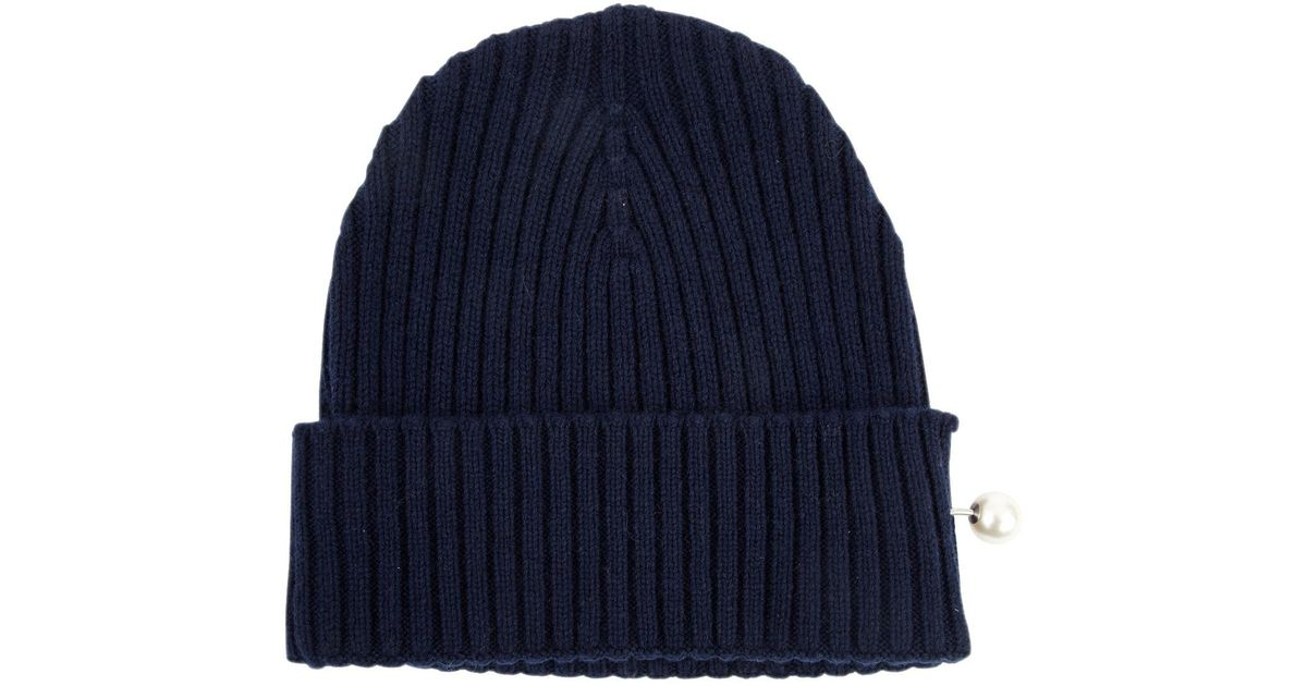 53c593134f1 Lyst - Chanel Cashmere Hat in Blue