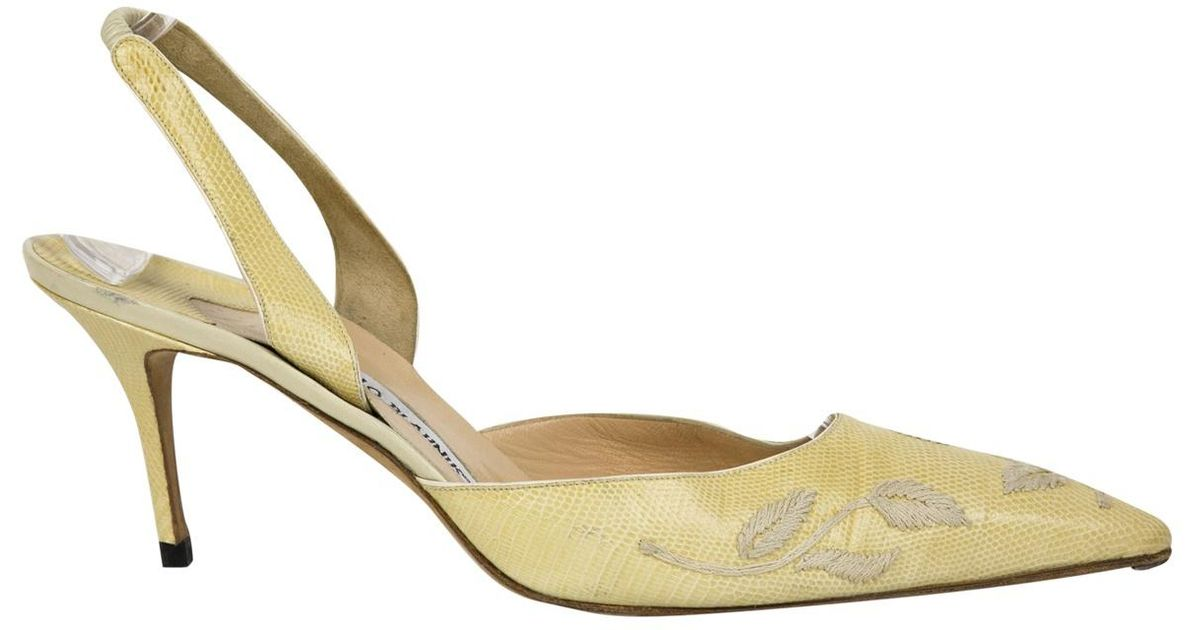 Pre-owned - Lizard heels Manolo Blahnik Buy Cheap Shop Clearance Best Seller Factory Price Quality From China Cheap 2018 New Cheap Online JVNCXPCTYV
