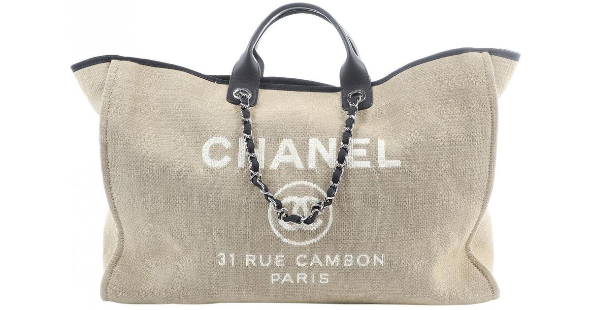 caa7de2e72b Lyst - Sac de voyage Deauville en toile Chanel en coloris Neutre