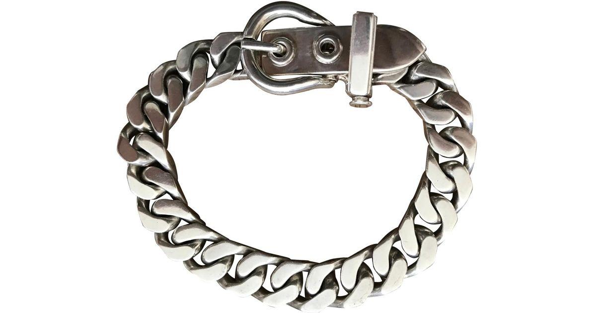 Hermès Metallic Silver Bracelet Lyst