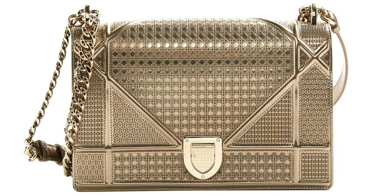 42b74517641 Dior Pre-owned Ama Cloth Clutch Bag in Metallic - Lyst