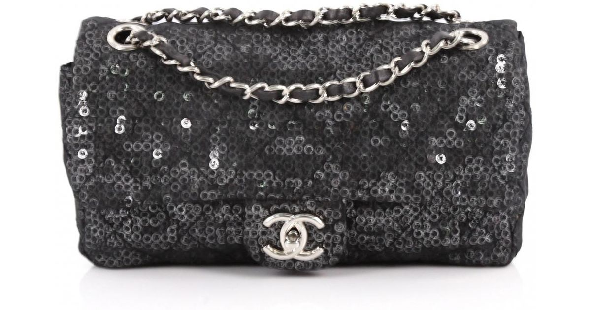 a5ada772d3209d Chanel Timeless Glitter Handbag in Black - Lyst
