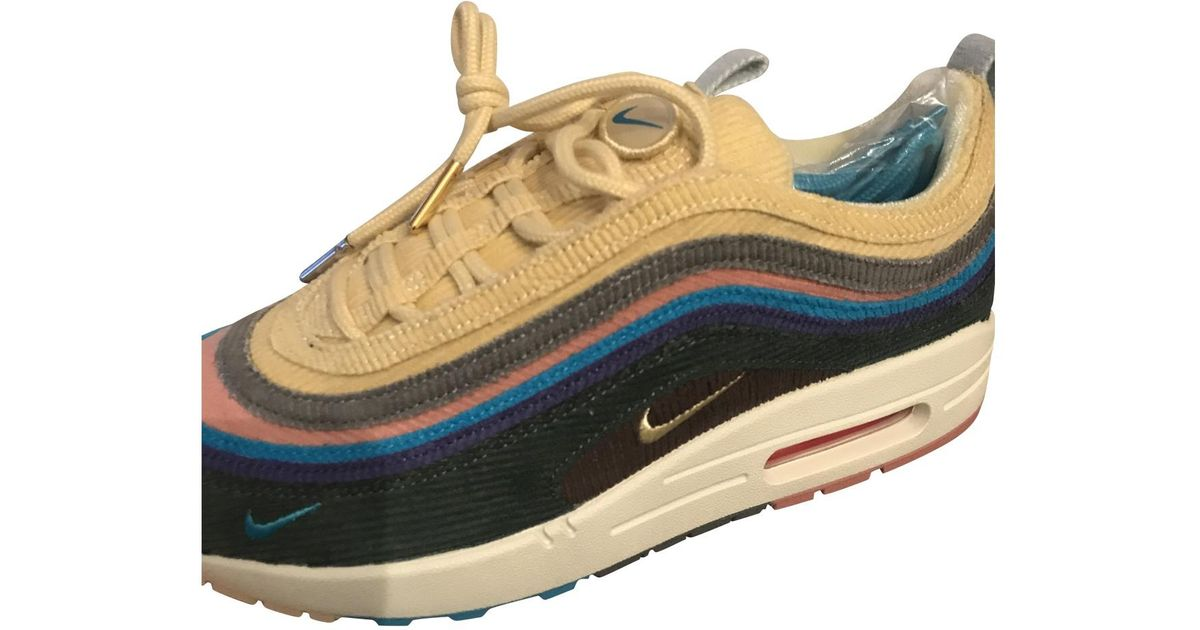 ae923ee686 Nike Air Max 1/97 Sean Wotherspoon Blue Polyester Trainers in Blue for Men  - Lyst