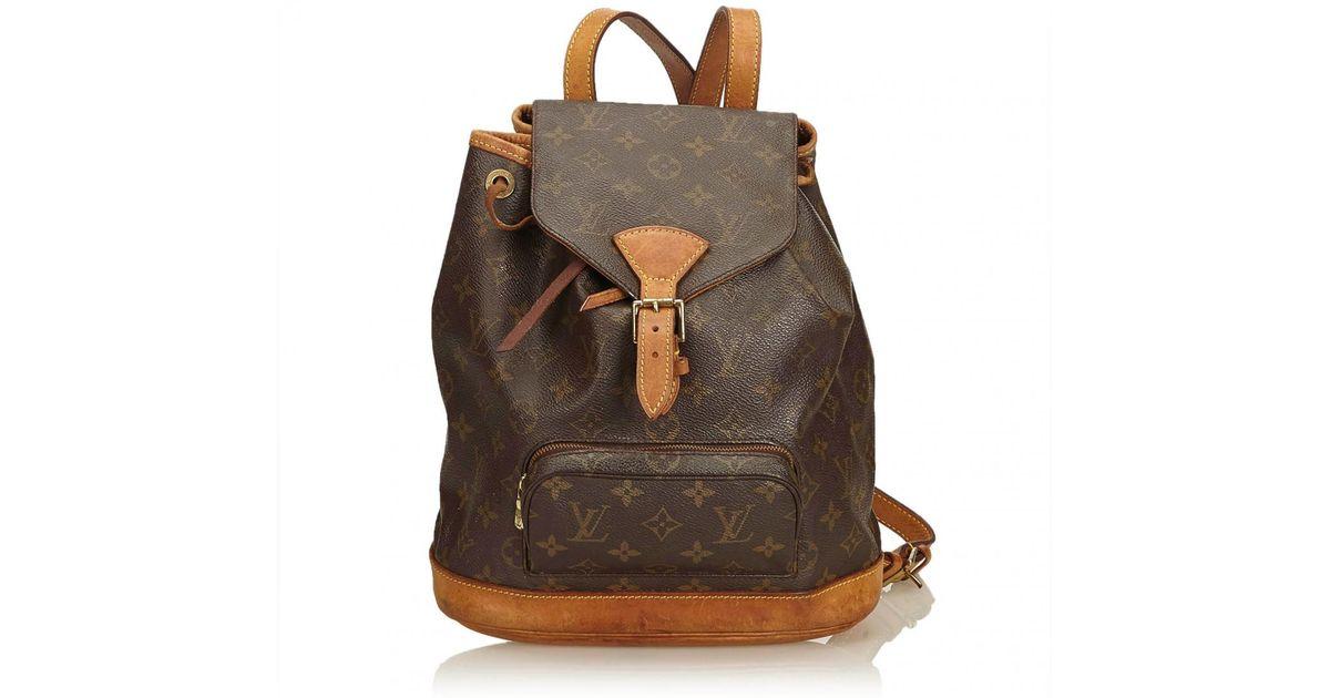 c530cf0caa4c Lyst louis vuitton vintage montsouris brown cloth backpacks in brown save  jpg 1200x630 Cloth backpacks