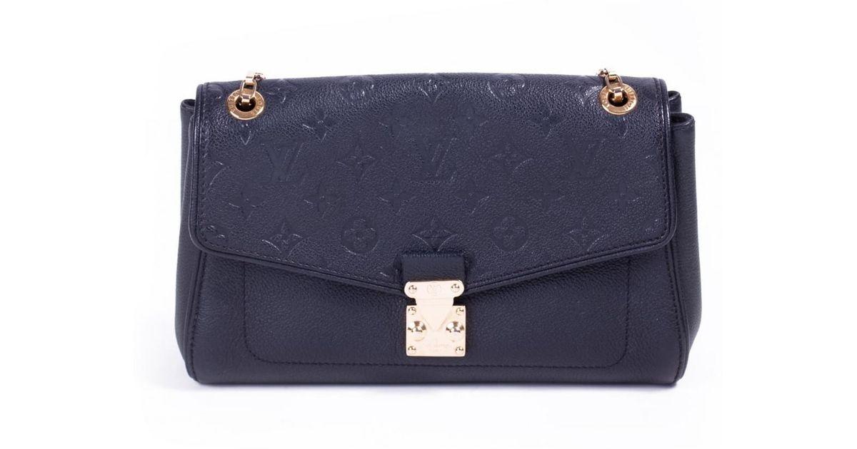 d50888cc04d5 Louis Vuitton Saint-germain Black Leather Handbag in Black - Lyst