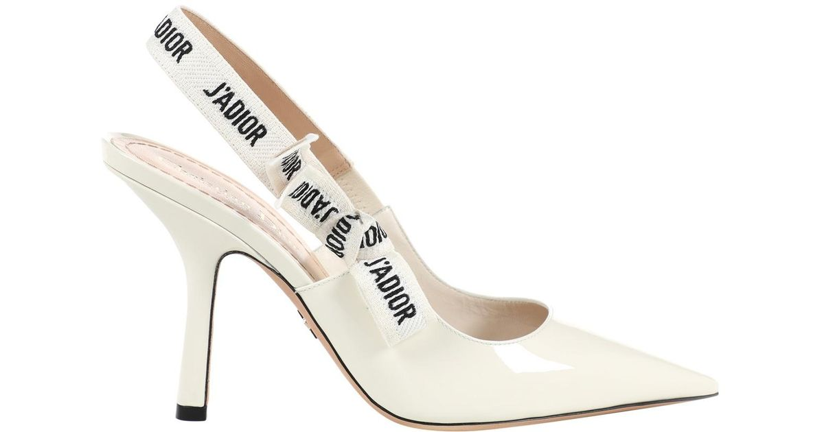 1ea6d7b02cc Lyst - Dior J a Patent Leather Heels in White