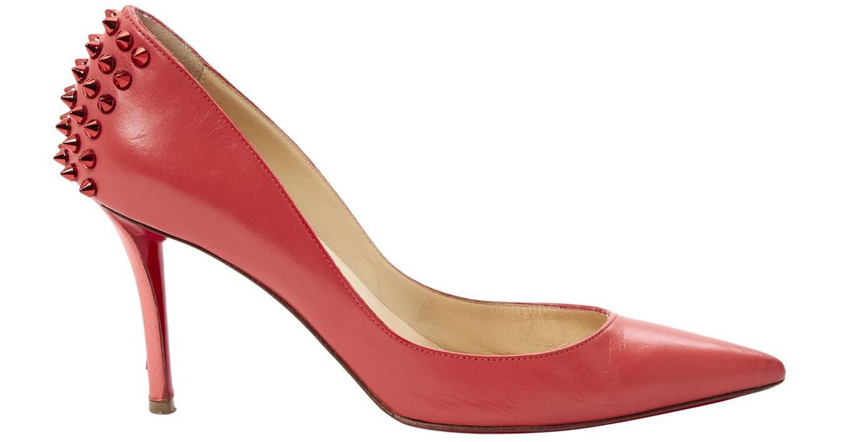 competitive price 78843 377e1 Christian Louboutin - Red Pre-owned Leather Heels - Lyst