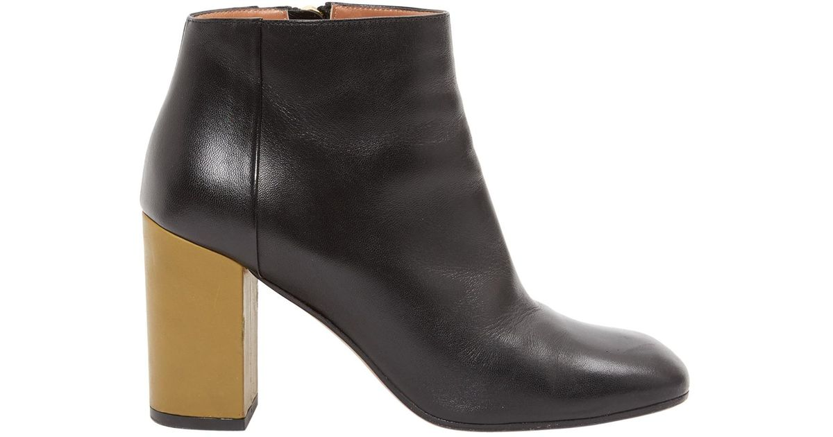 Ankle Leather Black In Marni Lyst Boots vqpw6EC