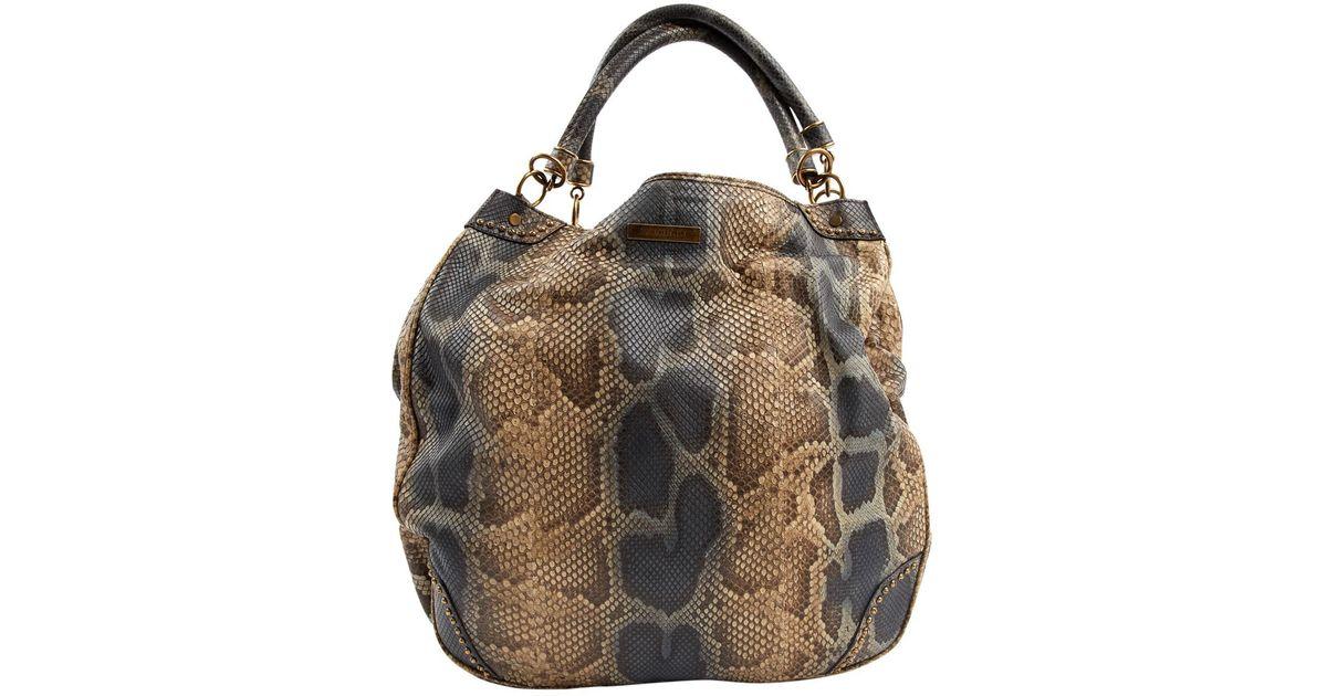 f74dab45efc8 Burberry Python Handbag in Brown - Lyst