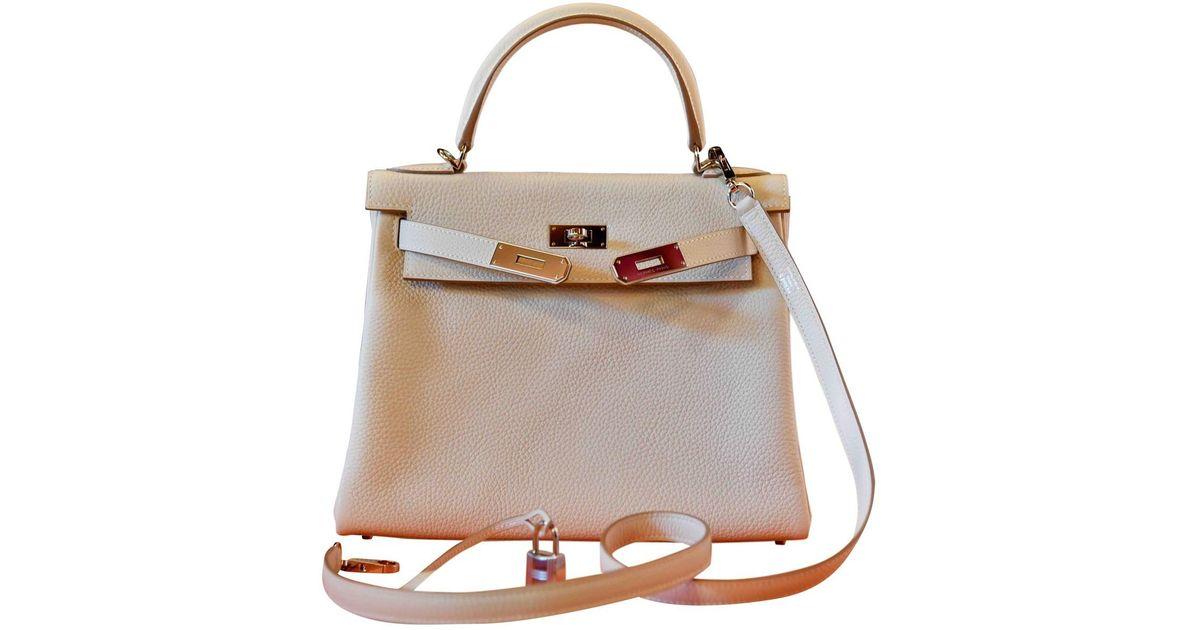 c6ee185078aa ... best lyst hermès kelly 28 leather crossbody bag in brown 31291 83053 ...