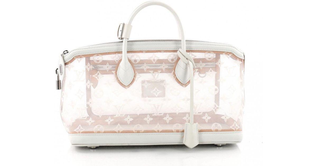 4c5ca335668a Louis Vuitton Lockit Leather Handbag in White - Lyst