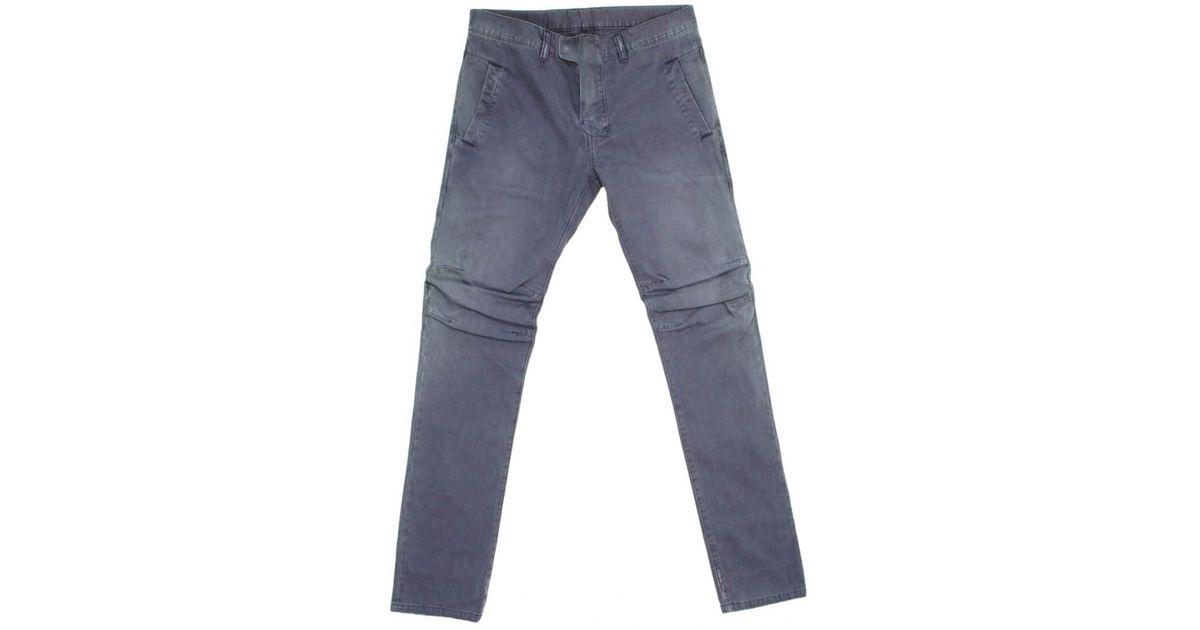 58d3a0fb Balmain Pre-owned Purple Cotton Jeans in Purple for Men - Lyst