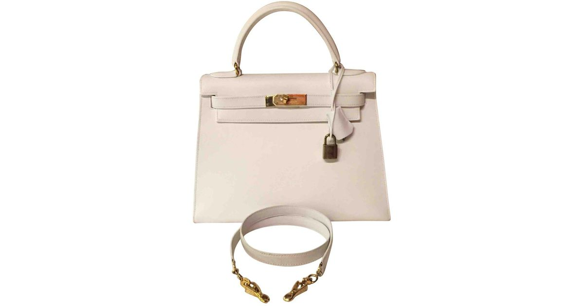 5c66f17d6d25 cheapest hermes ostrich mini kelly white 10902 1d4b6 ca1b1  best lyst hermès  kelly leather handbag in white ad29f bc814