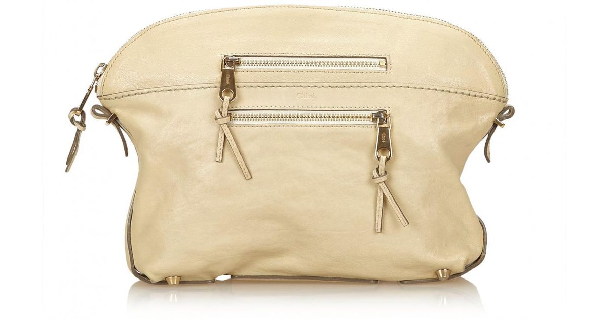 Pre-owned - Leather clutch bag Chlo 8wdx3KmoGE