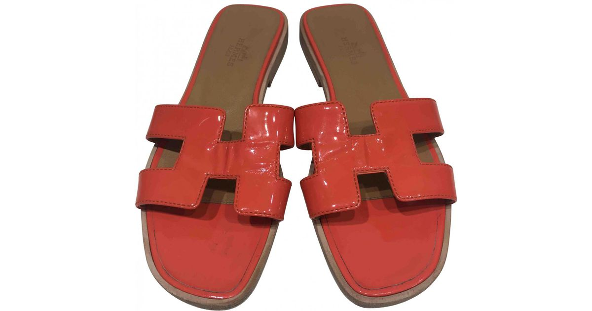 Pre-owned - Patent leather sandals Herm muSNbgpE