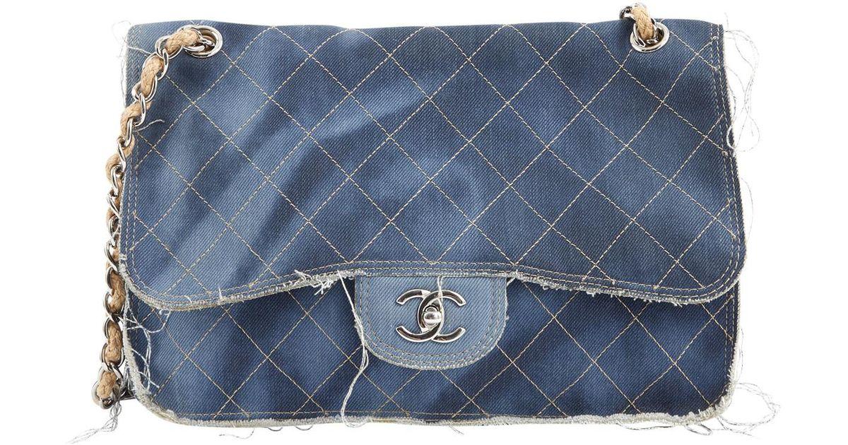 4ec41d49d87f Chanel Timeless Bag in Blue - Lyst