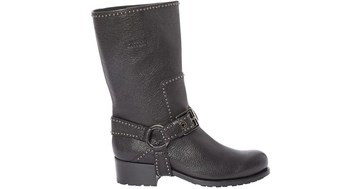 Pre-owned - Leather biker boots Dior EhoxffsK4n