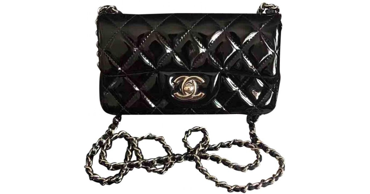 e3a2ba638dd6 Chanel - Black Pre-owned Timeless Patent Leather Crossbody Bag - Lyst