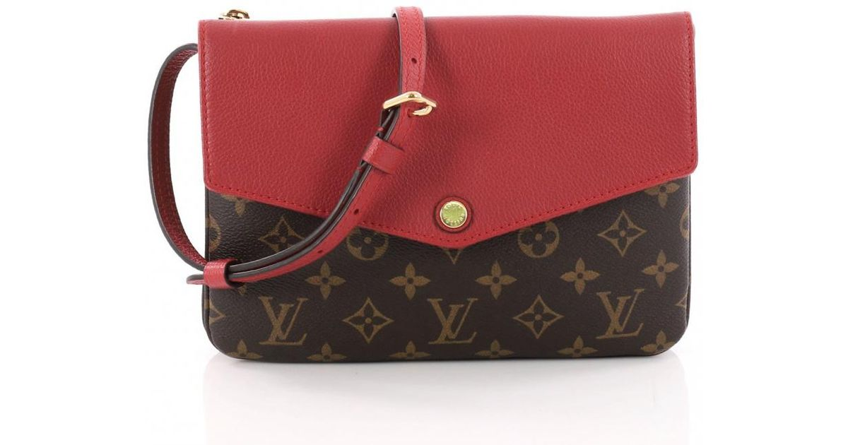 377062935 Louis Vuitton Twice Cloth Crossbody Bag in Red - Lyst