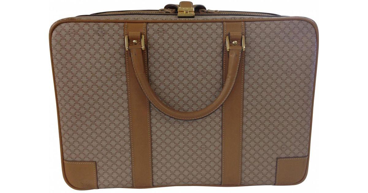 20a6781ec5 Céline Beige Leather Travel Bag in Natural - Lyst