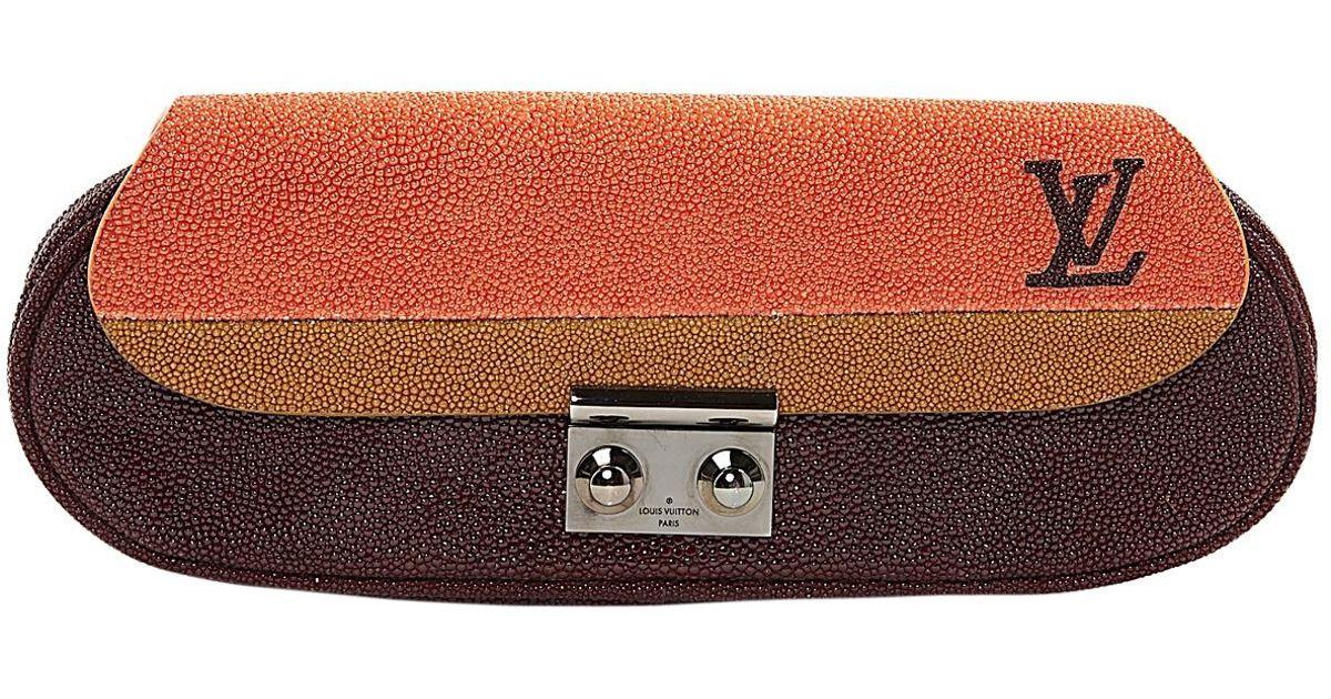 fd2c3323d86c Lyst - Pochette en galuchat Louis Vuitton