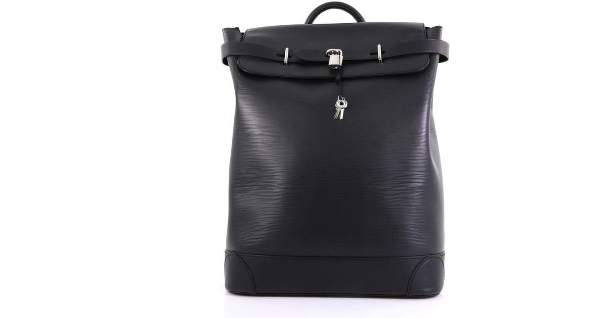 770ddbc93f1d Lyst - Louis Vuitton City Steamer Black Leather Backpacks in Black