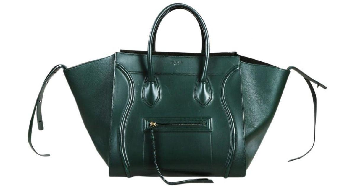 adff6f767a En Céline Luggage Phantom Cuir Sac Main Coloris Vert Lyst À CQBdoeWrx