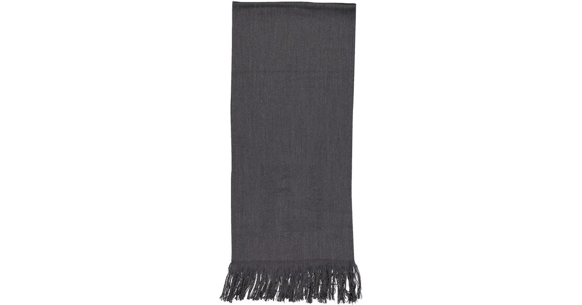 Scarves In Fendi Wool Anthracite Gray Pre Owned Lyst SqMpGzUV