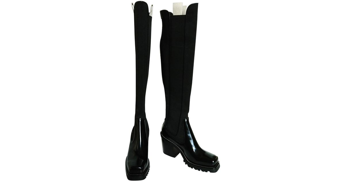 c15f17f1d35b Lyst - Louis Vuitton Pre-owned Limitless Black Patent Leather Boots in Black