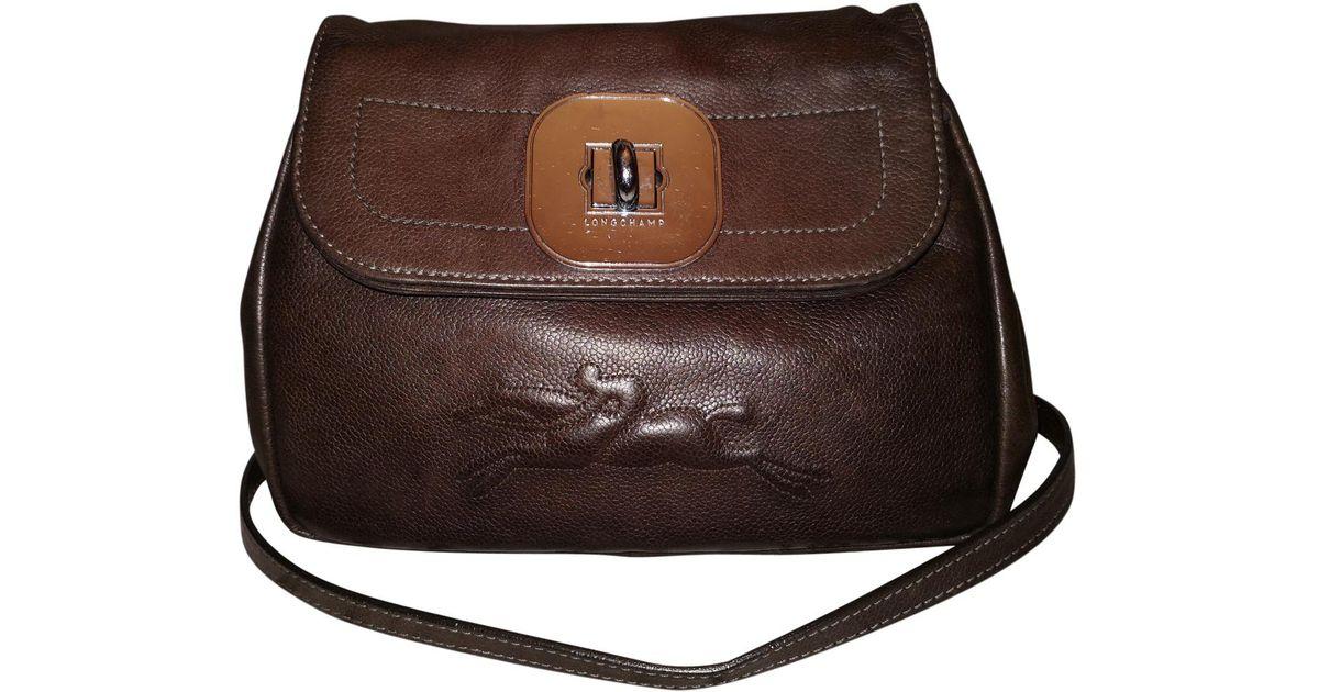 6ff2f574bf26 Lyst - Longchamp Gatsby Leather Crossbody Bag in Brown