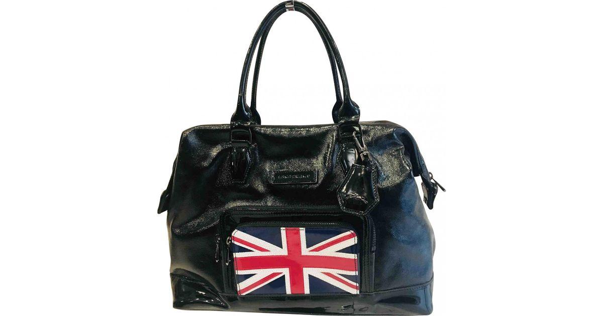 f9db027c7638 Lyst - Longchamp Légende Patent Leather Handbag in Black