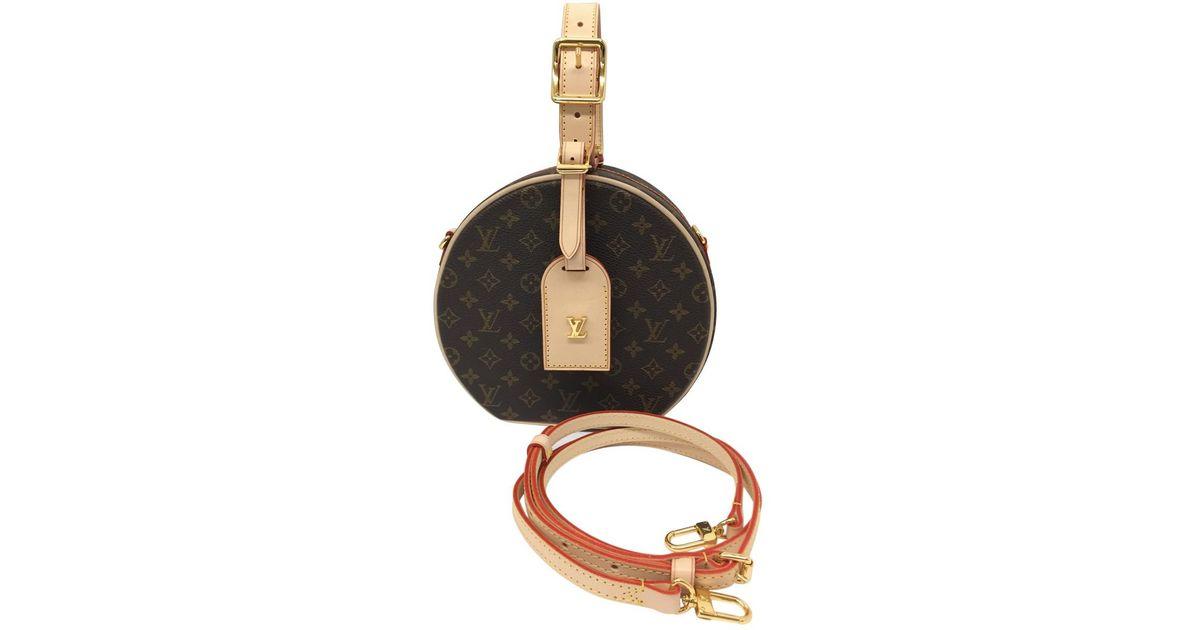48a76b7706cb Lyst - Louis Vuitton Pre-owned Petite Boîte Chapeau Cloth Handbag in Brown