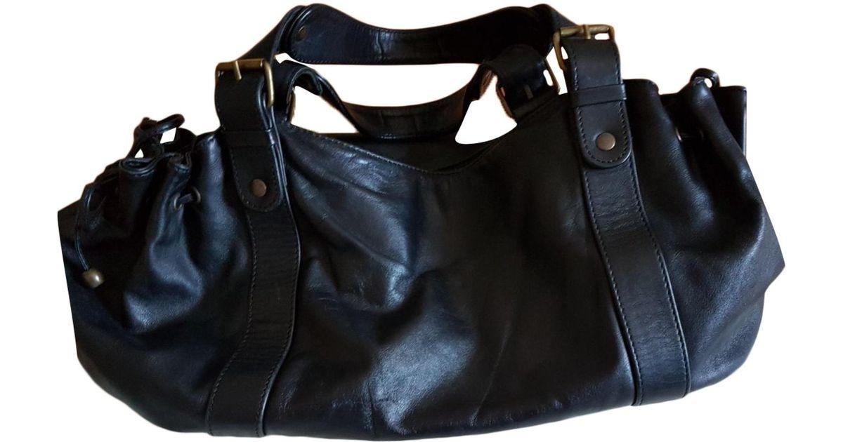 384859359b Sac à main en cuir cuir noir Gerard Darel en coloris Noir - Lyst