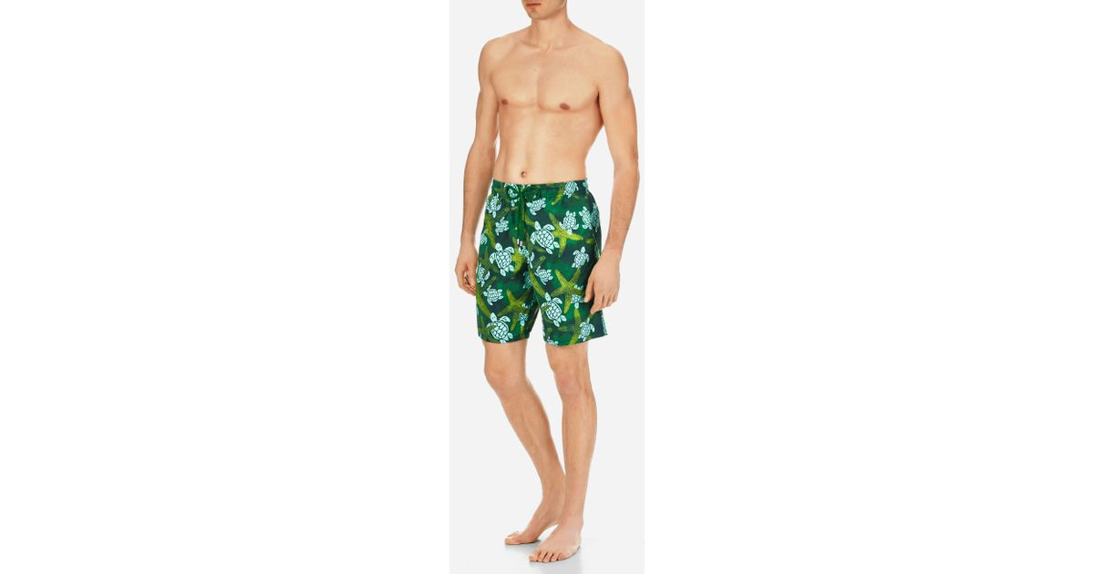 3d5f22edb0 Vilebrequin Moorea Starlets & Turtles Swim Trunk in Green for Men - Save 4%  - Lyst
