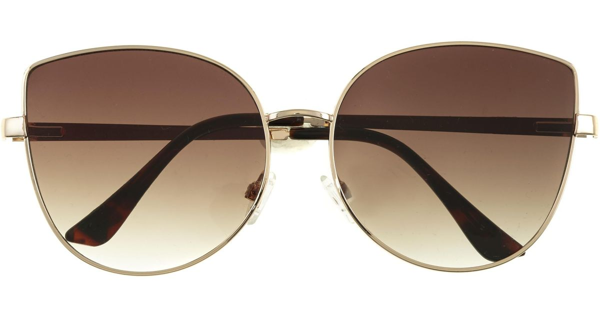 2f5d9eac2296b Vince Camuto Metal-trim Cat-eye Sunglasses in Brown - Lyst