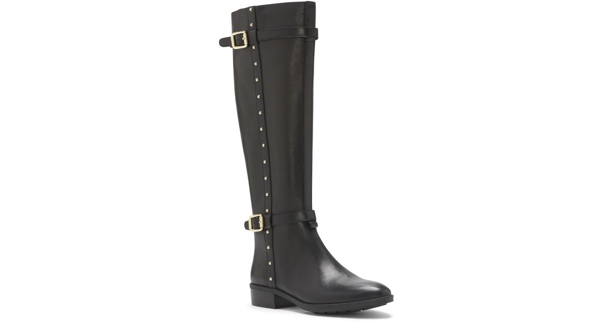 a34f098ec09 Lyst - Vince Camuto Preslen – Studded Riding Boot in Black